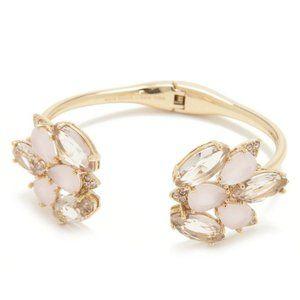 NEW Kate Spade Blushing Blooms Hinged Cuff Bracele